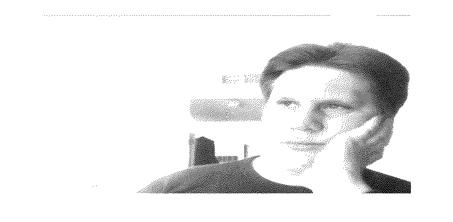 An out-of-date dithered one-bit B/W image of me.